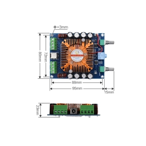 Image 4 - XH A372 TDA7850 4 채널 50W * 4 HIFI 카 스테레오 오디오 앰프 보드 서브 우퍼 앰프베이스 앰프 홈 시어터