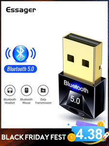 Essager USB Bluetooth 5.0 Adapter Dongle For PC Computer Wireless Mouse Keyboard PS4