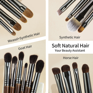 Image 3 - OVW Natural Goat Hair Eyeshadow Professional Makeup Brushes Crease Blending Shader kist dlya teney brovey brochas maquillaje