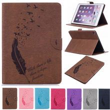 Funda abatible de cuero PU de lujo a la moda para Apple iPad Air 2 funda para tableta funda inteligente para iPad Air2 para 9,7 pulgadas caso(China)
