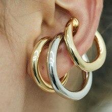 Fashion Ear Cuff Clip on Earrings NO Piercing Gold Silver Color Vintage Earcuff Earclips Clip Earrings Boho Jewelry 2020