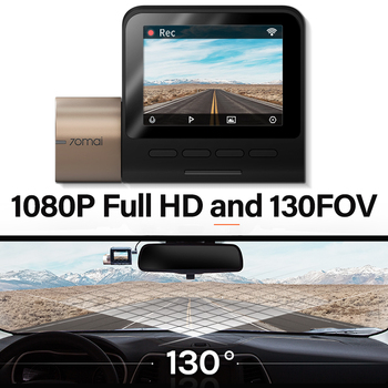 Parking Monitor GPS Cam Wifi DVR 70mai Dash Voice Control Camera Speed Coordinates GPS