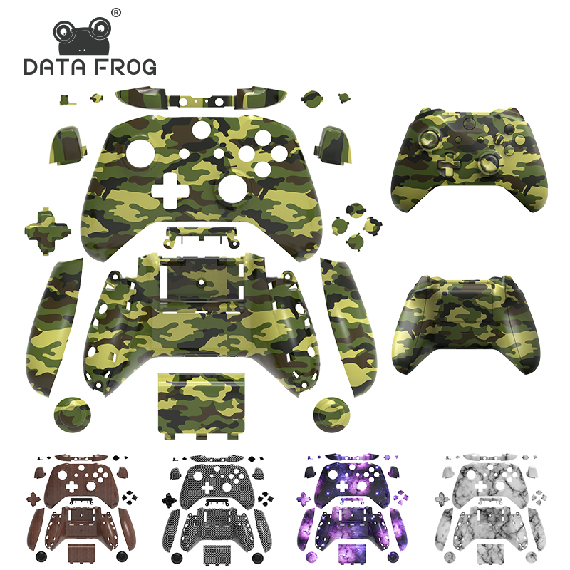 DATA FROG Replacement Full Housing Shell For Xbox One Slim Case With Buttons Kit Accessories For Xbox One S Wireless Controller
