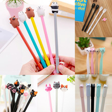 1pc Kawaii Cat Gel Pens Cute Novelty Neutral For Writing Office School Supplies Creative Korean Stationery 0.5mm