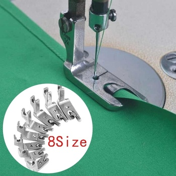 Hot Sale Sewing Machine Accessories 3Pcs Foot Presser Attachment Material Press Feet Set for Rolled Industrial Sewing Machine