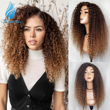 SHD Ombre Color Lace Front Wig with Baby Hair Brazilian Kinky Curly Hum