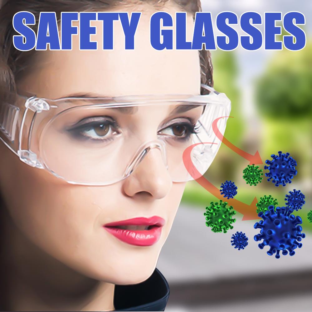 PC-Safety Glasses Eye Protection Virus Prevention Anti-Dust&Shock Goggles Transparent Eyepiece Chemical Glass Protection