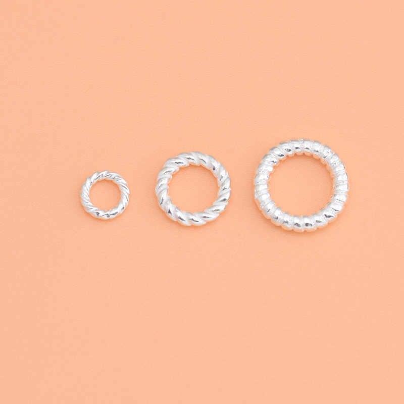 925 כסף סטרלינג הברגה סגור טבעת בעבודת יד diy חרוזים חומר תכשיטי אביזרי עבור תכשיטי ביצוע