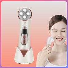 Mismon 306c rosto cuidados com a pele ferramenta ems mesotherapy rf radiofrequência facial led photon dispositivo de cuidados com a pele face lift beleza máquina