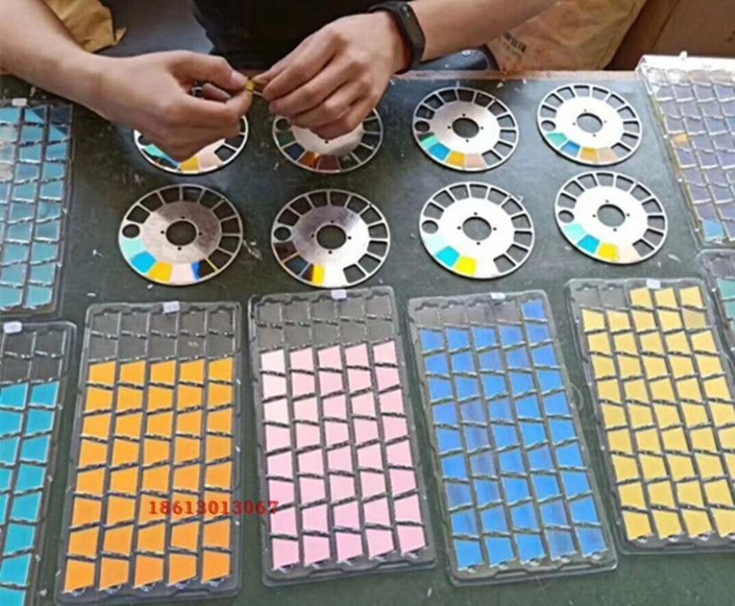 10 Pieces 7R 230w Beam Light Color Wheel Green Color Glass+  1 Piece Glue