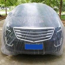 Universal Auto Einweg Volle Auto Abdeckung PE Transparent Kunststoff Freien Staubdicht Wasserdicht Schnee-beschlagfrei Auto Kleidung