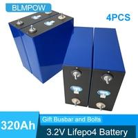 4 pezzi 3.2V 100Ah 200Ah 280AH 320Ah LiFePO4 batteria al litio ferro fosfatato fai da te 12V 24V moto Eve auto Inverter solare cella