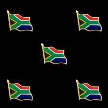 5PCS South Africa Flag Zinc Alloy Lapel Pin Badge Paints Epoxy Pin Brooch Badge