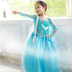 Newest Arrival Baby Girls Kids frozen costume Dress Snow Princess Queen Dress Up children's party Cosplay Tulle Dress 3-8Y