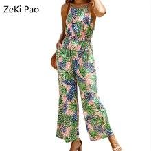 цена на Women's Jumpsuit Jumpsuits Off-the-Shoulder-Wide-Leg Trousers Set Summer Set Floral Print Jumpsuit Casual Comfort Jumpsuit