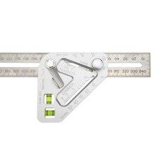 Многофункциональная треугольная линейка; Деревообработка, комбинированная квадратная угловая линейка, маркировочные инструменты VS998