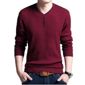 Image 3 - BOLUBAO מקרית מותג גברים של סוודרים V צוואר ארוך שרוול סוודר חולצות זכר אופנה פראי Slim Fit סוודרי סוודר גברים