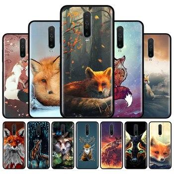 Перейти на Алиэкспресс и купить Силиконовый чехол для Xiaomi Redmi 8 8A 7 7A 6 6A 9 10X Pro 5G Redmi Note 9S 9 Pro Max 8T 8 Pro 7 6 Cute Fox Phone Shell Couqe