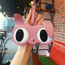 PU Leather Eyeglasses Case 2019 Ins Popular Cute Cartoon Back To School Women Sunglasses Storage Protection  Unique Glasses Bags