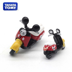 New TAKARA TOMY Tomica Minnie Motorcycle Car Model Cartoon White Dream Transport Diecast Metal Alloy Pull Back Car Gift For Kids(China)