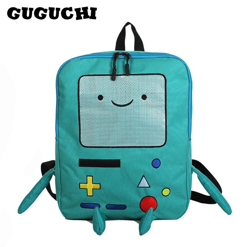 Japan And South Korea Cute Cartoon Cute Adventure Time Backpacks Funny Personality Stereo Student Bag Large Capacity Travel Bag