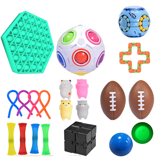 Toy Fidget-Toys Pack Stress Adult Autism for Kid 19pcs-Set Box Zabawki Antysresowe img2