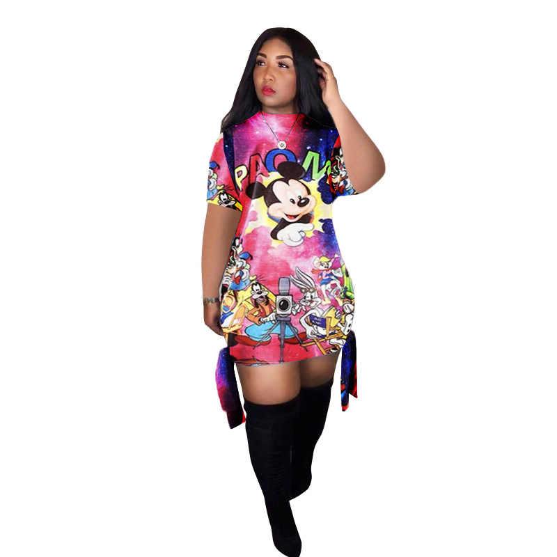 אביב מזדמן הדפסת מיני שמלה ארוך שרוול O-צוואר תחבושת Bodycon שמלות Streetwear נשים 2020 אופנה בגדי Vestido Mujer