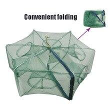 Automatic Fishing Net Folding Shrimp Cage Nylon Foldable Crab Fish Trap Cast Mesh MC889