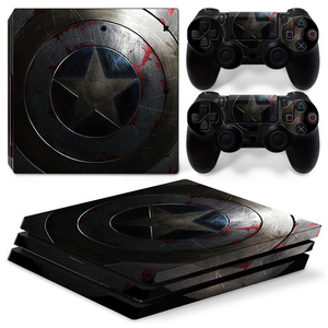 Image 5 - Ps 4 Pro Marvel Skin Sticker Decal Vinyl Voor Sony Playstation 4 Pro Console En 2 Controllers Voor Ps4 Pro slim Stickers Ps4pro
