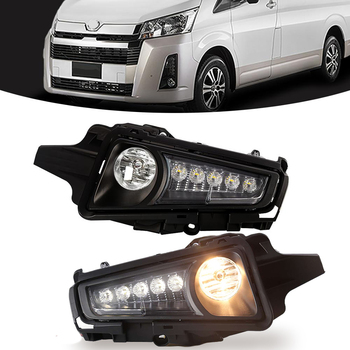 M&C For Toyota Hiace Commuter GL H300 2019 2020 Car LED Fog Lamp Auto Driving Daytime Running Lamp Daylight With Wires & Switch
