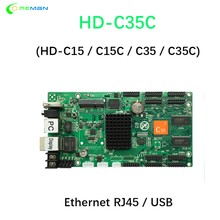 HD C35C Usb + Ethernet Asynchrone Controller Full Color Video Led Scherm Controlekaart 10xhub75e Poort Hd c35c