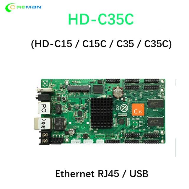 HD C35C kontroler asynchroniczny USB + Ethernet pełne kolorowe wideo karta kontrolna ekranu LED 10xhub75e port hd c35c