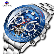 Top Brand Luxury FORSINING Men Automatic Military Watch Tourbillion Wat