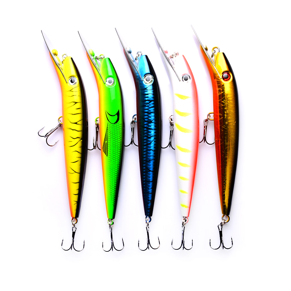1Pc 20cm Minnow Fishing Lure Crankbait Wobblers Plastic Artificial Hard Bait Bass Fishing Tackle Peche everything for fishing in Fishing Lures from Sports Entertainment