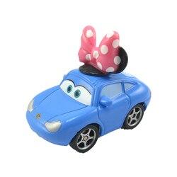 Samochody Disney Pixar 2 3 zygzak McQueen śliczne Mini Sally metalowe zabawki ze stopu pojazdu Model prezent dla dzieci dni