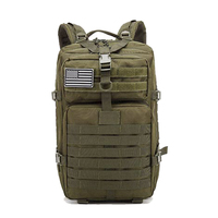 Men's military tactical backpack 45L large capacity military assault bag outdoor mountaineering hiking camping hunting bag