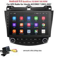 """10.1"""" Android 9.0 Wifi 4G Car GPS Stereo Radio For Honda Accord 2003-2007+HD CAM Map Mirror Link DTV SWC DVR Bluetooth USB OBD2"""