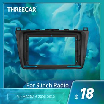 2Din Car Dashboard Frame Fit For MAZDA 6 2006-2012 Car DVD GPS Panel Dash Kit Mounting Frame Trim Bezel Fascias image