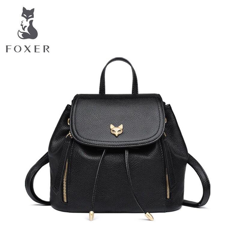 FOXER designer sacs marque célèbre femmes sacs 2019 nouvelles femmes en cuir véritable sac mode femmes sac à dos loisirs grande capacité sac