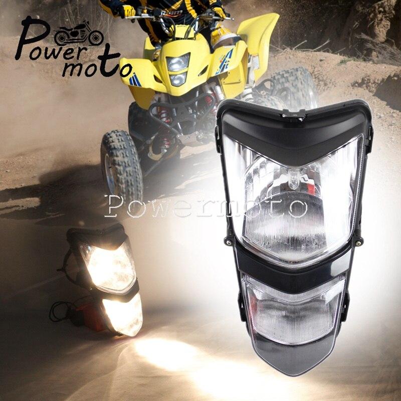 ATV Quad Headlight Z400-35100-07G00-YU1 12V/25W Dual Running Light For Suzuki Quadsport LTZ400 LT-Z400 KAWASAKI KFX KSF400 03-08