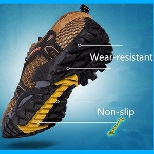Image 3 - VEAMORS גברים סניקרס טרקים טיולים נעלי החלקה לנשימה טיפוס רשת זכר במעלה הזרם מים ספורט חיצוני סניקרס