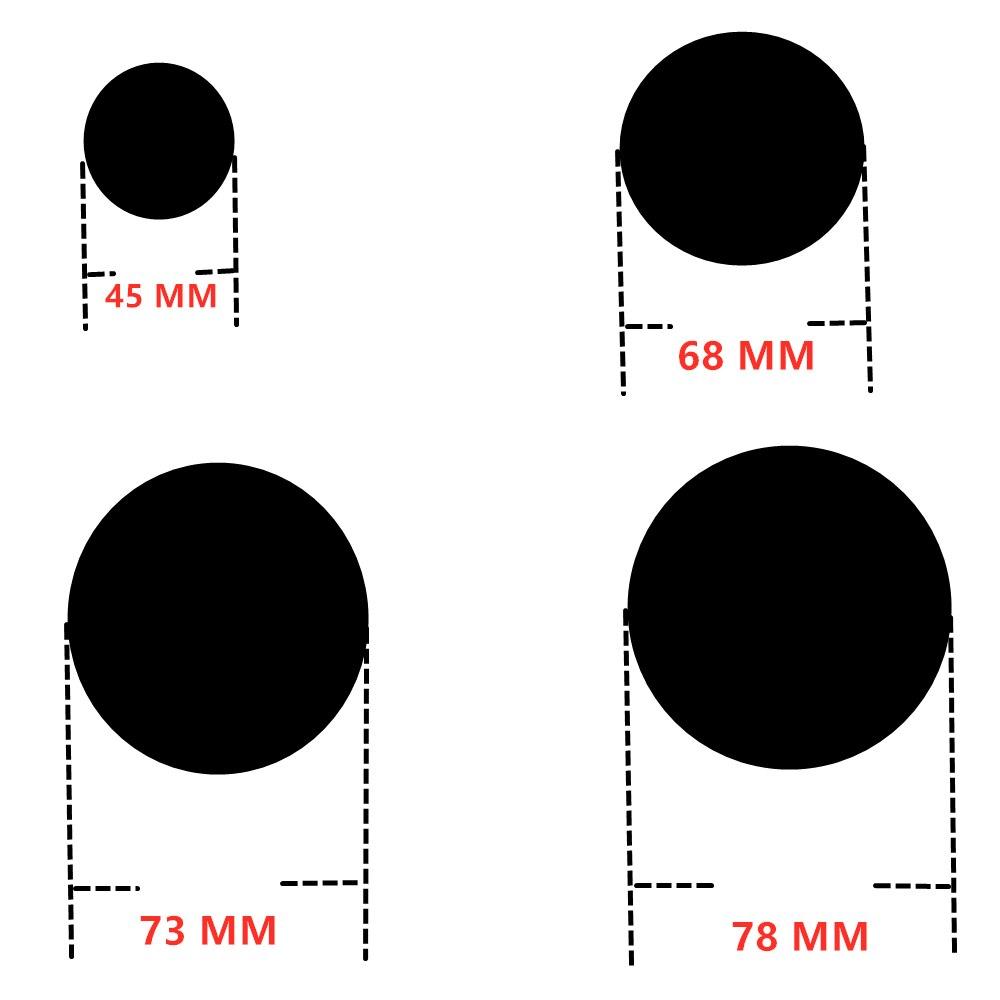 Hight Quality  Sticker 45mm 68mm 73mm 78mm White Blue Black Carbon Fiber With Badge Logo Sticker For BMW