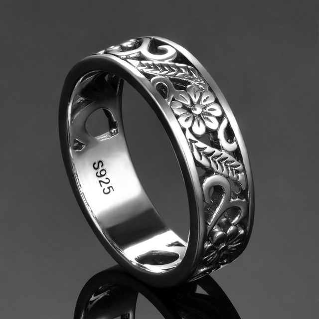 Bague Ringen Top Brand 925 Silver Jewelry Rings For Women Anniversary Circle Couple Ring Size 6-10 Wholesale Fine Jewlery Gifts 1