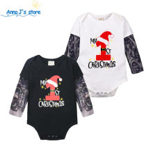 Christmas Baby boys tattoo clothes Fashion rompers Autumn baby romper cotton unisex baby boy girls clothes baby Jumpsuit ppy518(China)