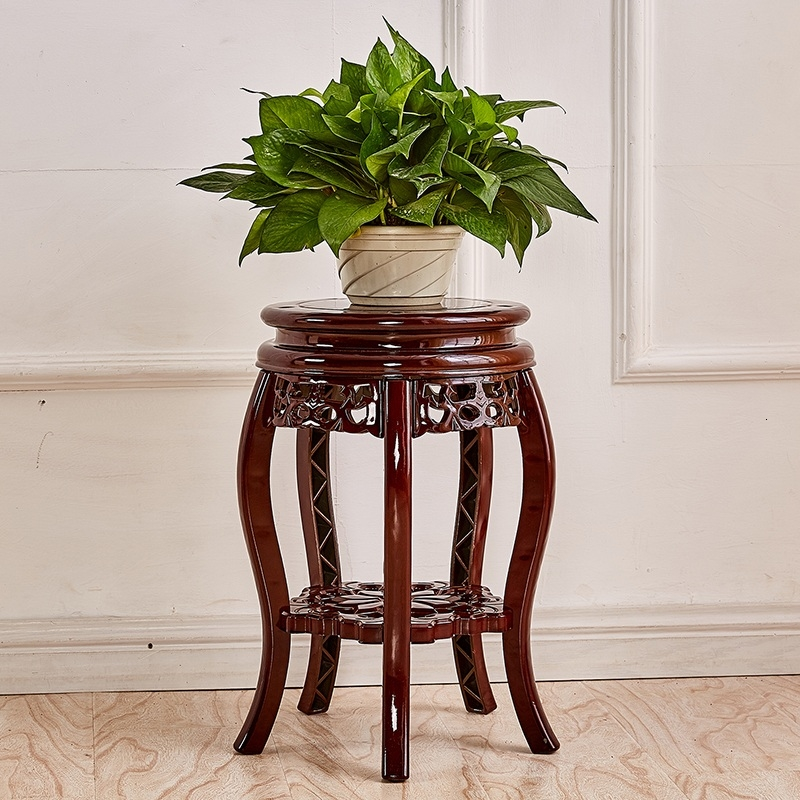 Wood  Plastic Flowerpot Frame Single Fake Something Antique Balcony Indoor To Ground Storage Shelves