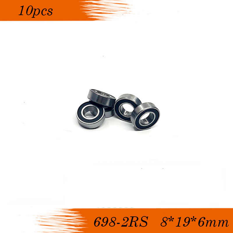 2pcs 698-2RS 698RS 698 RS 2RS 8x19x6mm Rubber Sealed Deep Groove Ball Bearing