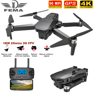 FEMA GPS Drone with 4K HD Dual Camera 25Mins 1.5KM Long Distance 5G Wifi FPV Brushless Quadcopter drone Professional VS SG906