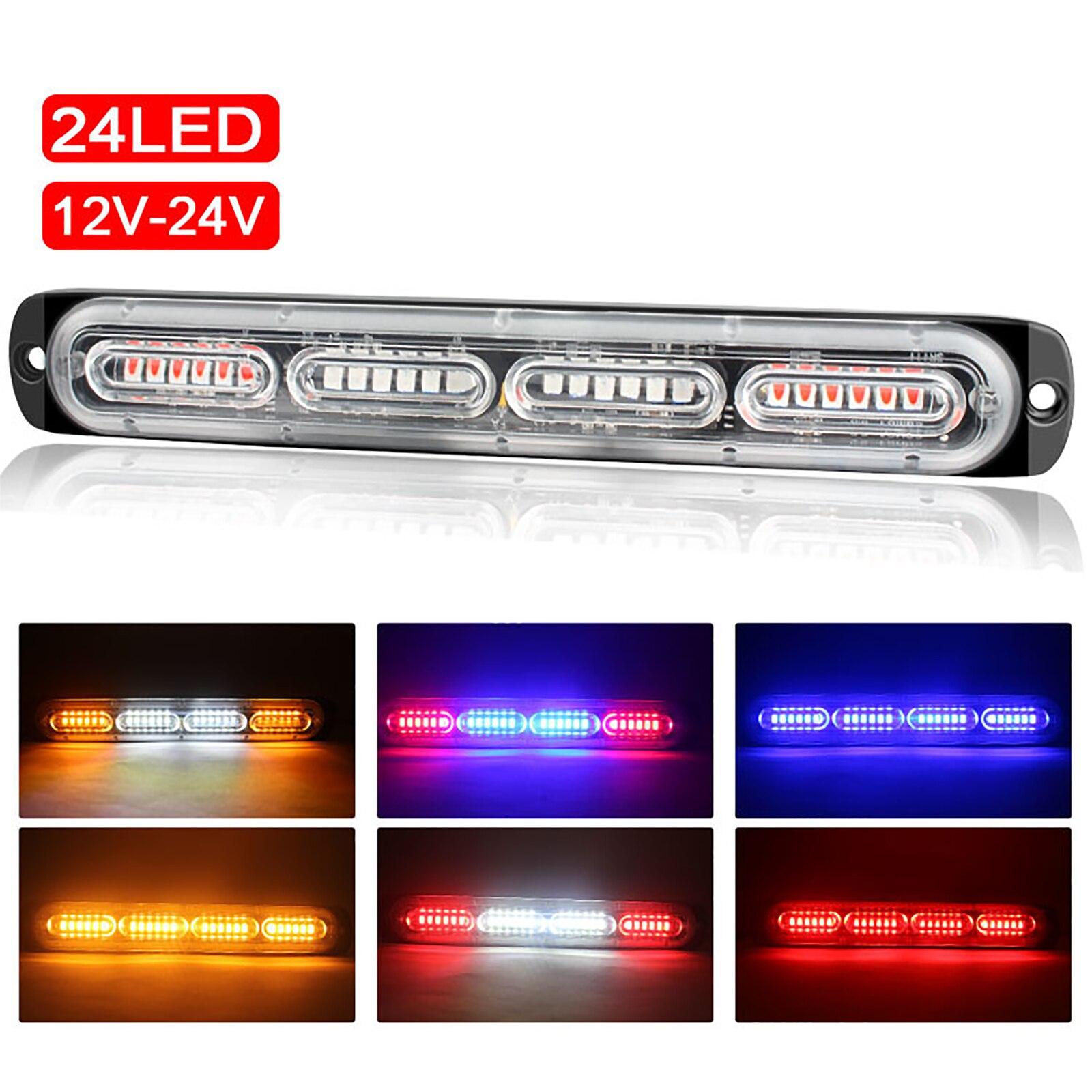 Купить 12v 24v 24 светодиодный мерцающий светильник полицейская машина