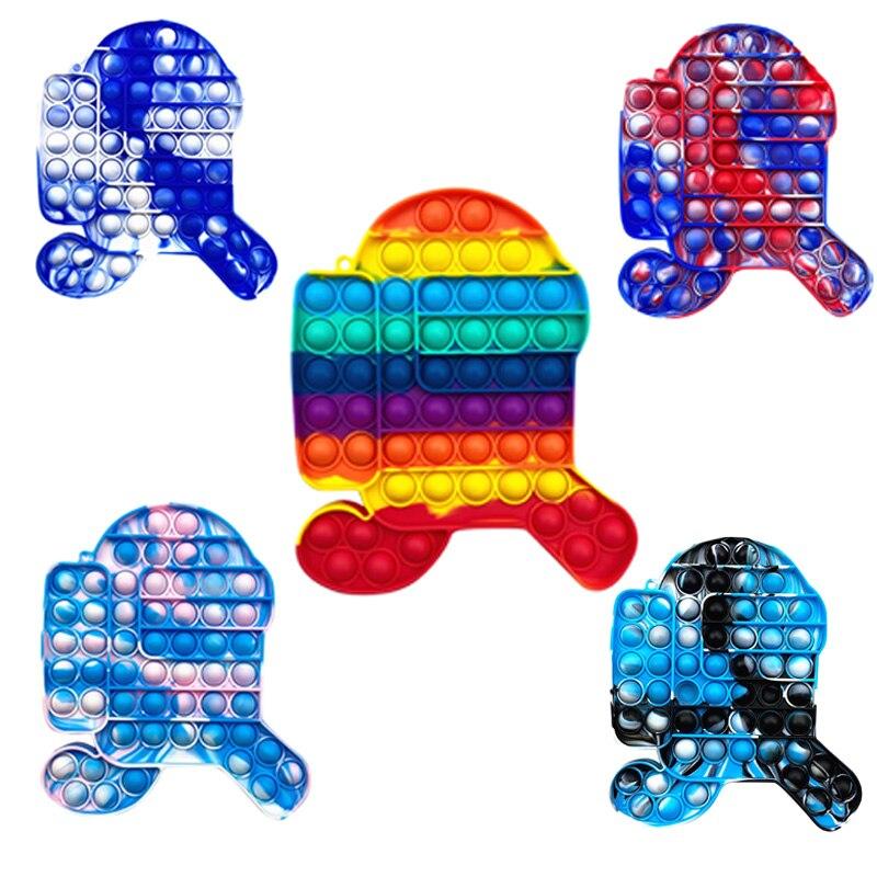 1 шт. пуш-ап пузырь Непоседа сенсорные игрушка для аутистов особых потребностей стресс снятие стресса питчер для взрослых и детей мягкие рез...