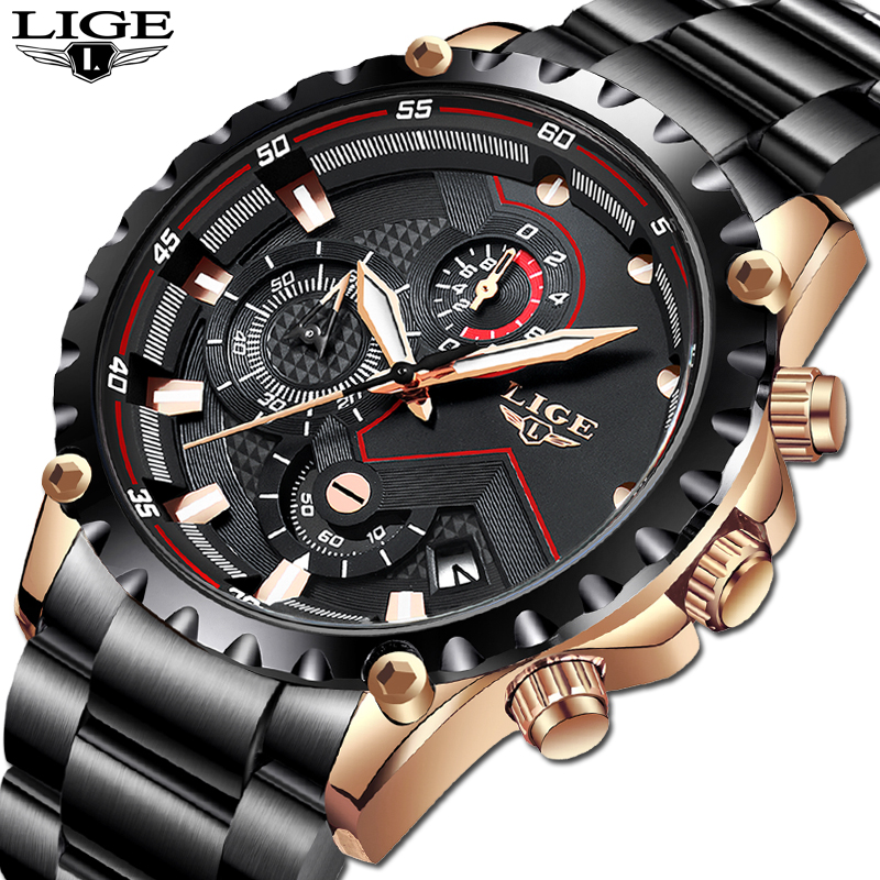 LIGE Brand Men's Fashion Watches Men Sport NAVI FORCE Quartz Watch Man Creative  Military Clock Wrist Watches Relogio Masculino